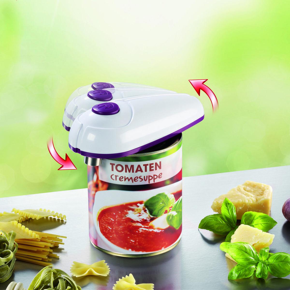 Bild 3 von Gourmetmaxx Vollautomatischer Dosenöffner, weiß/lila