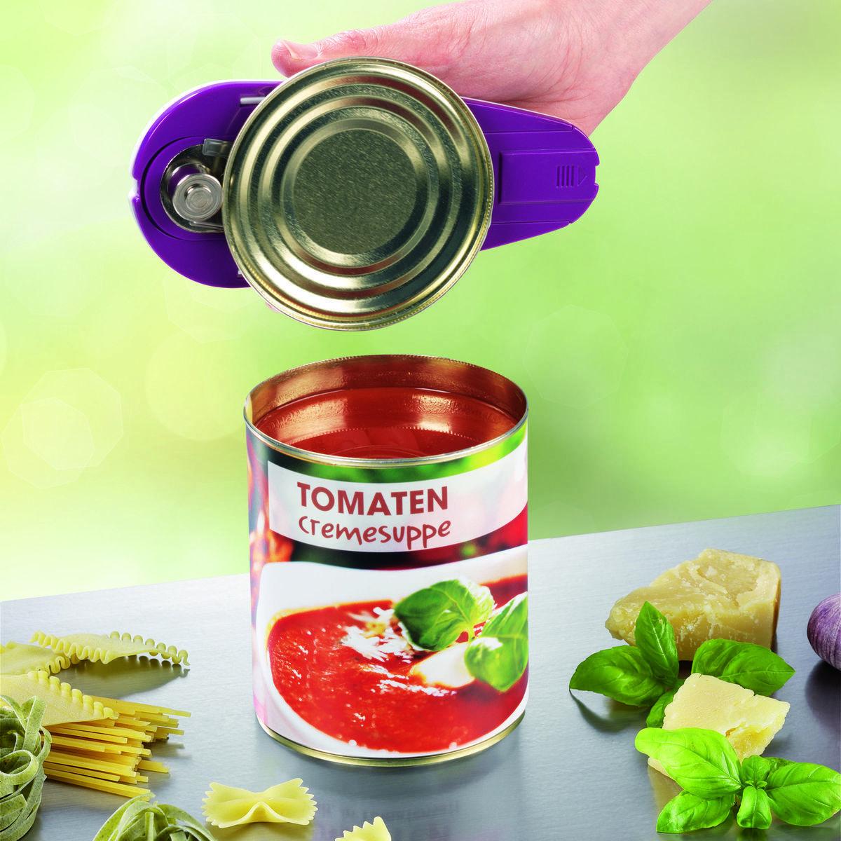 Bild 4 von Gourmetmaxx Vollautomatischer Dosenöffner, weiß/lila