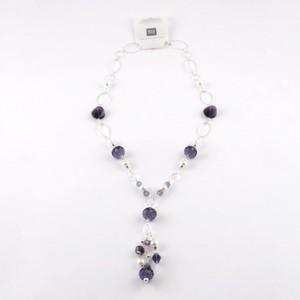 Kette Glasschliff lila 69 cm