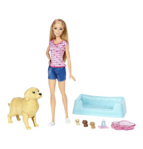 BARBIE        Puppe mit Welpen