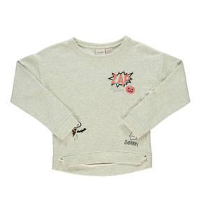 manguun teens        Sweatshirt, Halloween-Print, Rundhals, Bündchen, für Mädchen