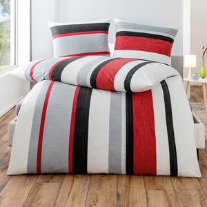 Dreamtex Thermo-Fleece Bettwäsche, 135 x 200 cm - Elegant Stripes