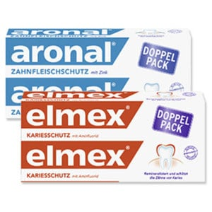 elmex oder aronal Zahncreme jede 2 x 75-ml-Packung