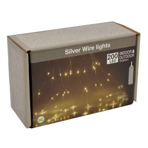 LED Lichtervorhang 200 LED Haardraht warmweiß IP44 innen/außen