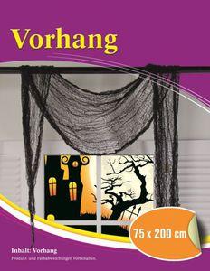 Halloween-Vorhang, schwarz, 200x75cm
