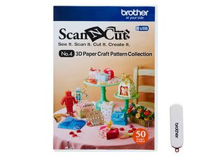 brother ScanNCut Designs Nr.4 3D Papiermodelle