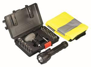 SOS-Set mit Sicherheitsweste und LED Taschenlampe Black&Decker