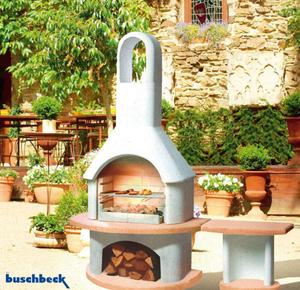 Garten Grillkamin CARMEN mit Tisch GEORGIA Buschbeck