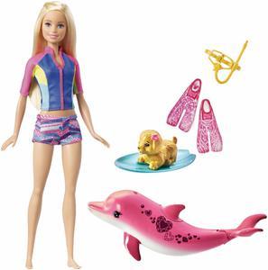 Mattel Magie der Delfine Barbie mit Delfin