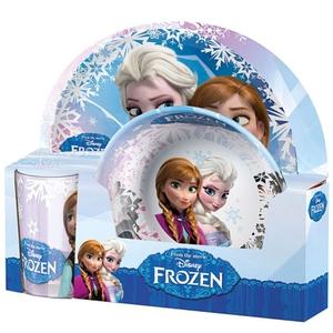 Disney Die Eiskönigin - Anna und Elsa Melamin Frühstücksset, 3 tlg.