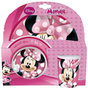 Minnie Mouse - Melamin-Geschirrset, 3-tlg.