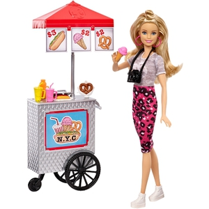 Barbie - Pink Passport, Hot Dog Stand (FLB32)