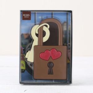 Liebesschloss aus Schokolade, 80g 6,24 € / 100g
