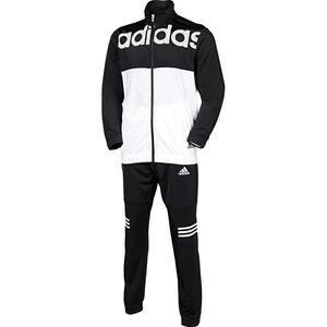 adidas Herren Climalite Trainingsanzug TS BTS, schwarz/weiß