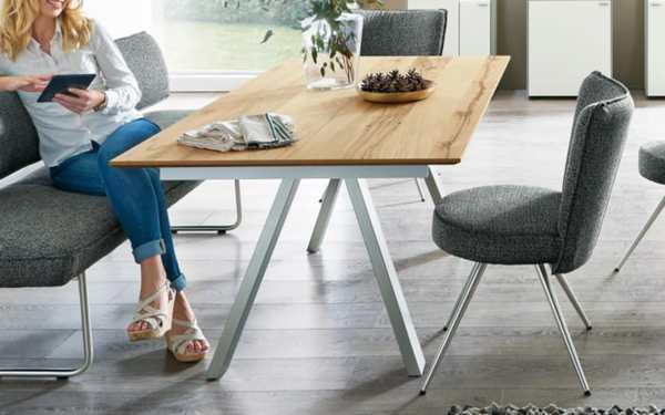venjakob esstisch eiche rustico hell ge lt furniert von. Black Bedroom Furniture Sets. Home Design Ideas