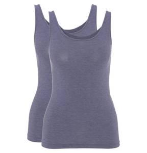 Sylvia Speidel        Unterhemd, meliert, atmungsaktiv, 2er-Pack