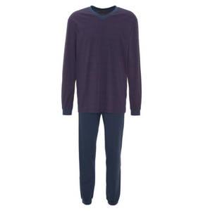 SCHIESSER        Schlafanzug, gestreift, lang, Brusttasche, Baumwolle