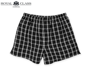 ROYAL CLASS CASUAL Flanell-Boxershorts, Bio-Baumwolle