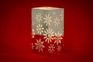 Merxx LED Dekolicht Quader Schneeflocken, silber, innen