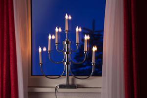Merxx Leuchter Klassik aus Metall, 7-flammig, silber, innen