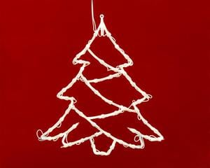Merxx 49er Weihnachtssilhouette, Motiv Weihnachtsbaum, innen