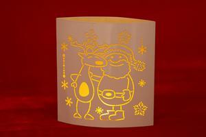 Merxx LED Dekolicht Oval Santa und Rentier, weiß, innen