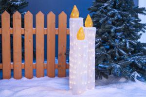 Merxx 3er LED Acryl Kerzen, außen