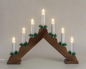Merxx Leuchter, 7-flammig, Holz, braun, innen
