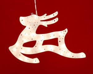 Merxx 35er Weihnachtssilhouette mit Rahmen, Motiv Rentier, innen