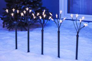 Merxx LED Sternenleuchtstäbe 5 x 6, außen