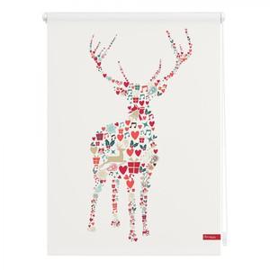 Lichtblick Rollo Klemmfix, ohne Bohren, blickdicht, Rentier Weihnachten - Bunt, 120 x 150 cm (B x L)