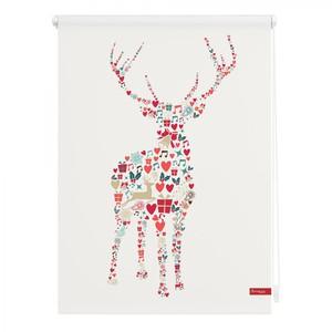 Lichtblick Rollo Klemmfix, ohne Bohren, blickdicht, Rentier Weihnachten - Bunt, 90 x 150 cm (B x L)