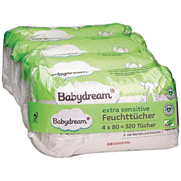 Babydream extra sensitive Feuchttücher