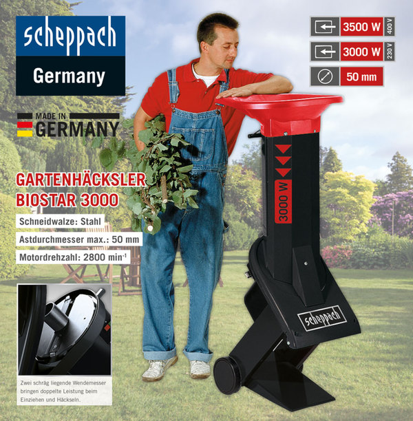 scheppach elektro gartenh cksler biostar 3000 3 5 kw von norma ansehen. Black Bedroom Furniture Sets. Home Design Ideas