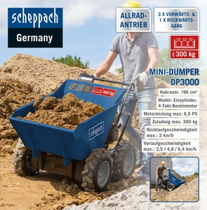 Scheppach Mini-Dumper DP3000