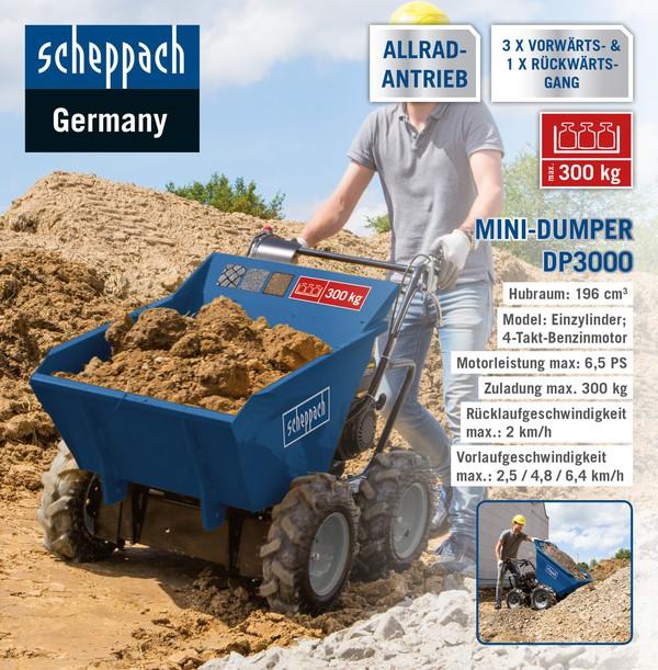 Scheppach Mini-Dumper DP3000