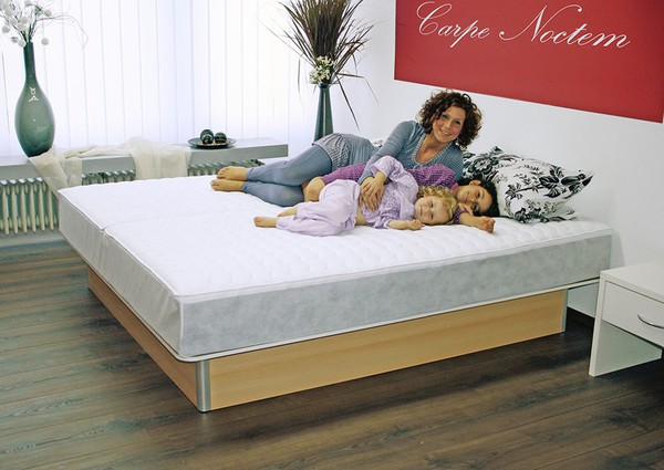 aquasphere duo wasserbett mit unterbausockel ca 200 x 200 cm buche mittel von norma ansehen. Black Bedroom Furniture Sets. Home Design Ideas