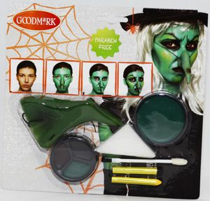Schminkset Hexe, mit Hakennase, für Halloween oder Fasching