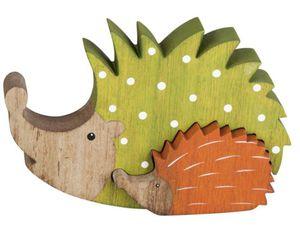 Igel - aus Holz - 13x11 cm