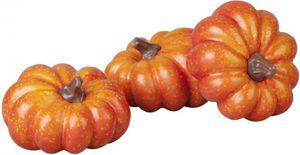 Kürbisset - aus Kunststoff - 9 cm - 3-teilig - in orange