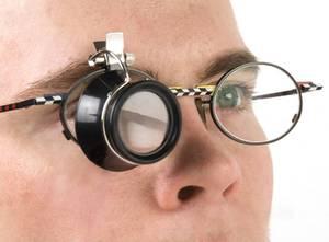 Klemmlupe für Brillen, mit 3-facher Vergrößerung Westfalia