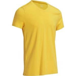 T-Shirt Active Slim Herren senfgelb DOMYOS