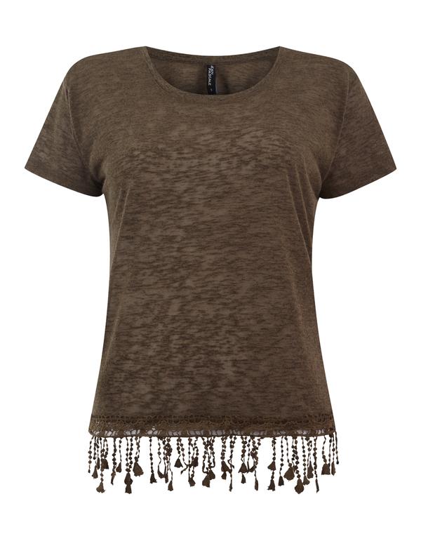 Damen Shirt mit Häkelspitze am Saum von Takko Fashion ansehen ...