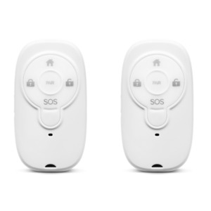 MEDION Smart Home Sparpaket - 2 x Fernbedienung Alarmsystem P85713, Smart Home, Steuerung des Alarmsystems, SOS-Taste, Tastensperrfunktion, (weiß)