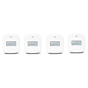 MEDION Smart Home Sparpaket - 4 x Bewegungsmelder P85707, Smart Home, 120° Weitwinkel, bis zu 8 Meter Reichweite (weiß)