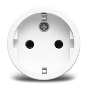 MEDION Smart Home Zwischenstecker P85702, Smart Home, schaltet elektrische Geräte, misst Stromverbrauch, Zeitschaltung oder manuelle Schaltung (weiß)