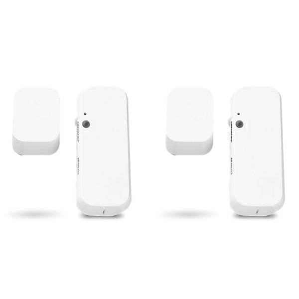 MEDION Smart Home Sparpaket - 2 x Tür- und Fensterkontakt P85703, Smart Home, Erkennt geöffnete Türen, Fenster und Schränke, Löst Alarm aus, Steuerung per App (weiß)