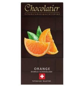 Chocolatier             Schweizer Schokolade Zartbitter 55% mit Orange                  (3 Stück)