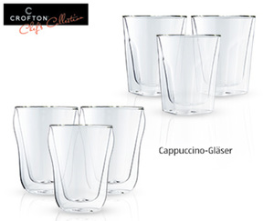 CROFTON®  Chef's Collection Thermo-Kaffee- oder Teegläser