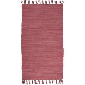 Fleckerlteppich Julia in Rot, ca. 70x130cm